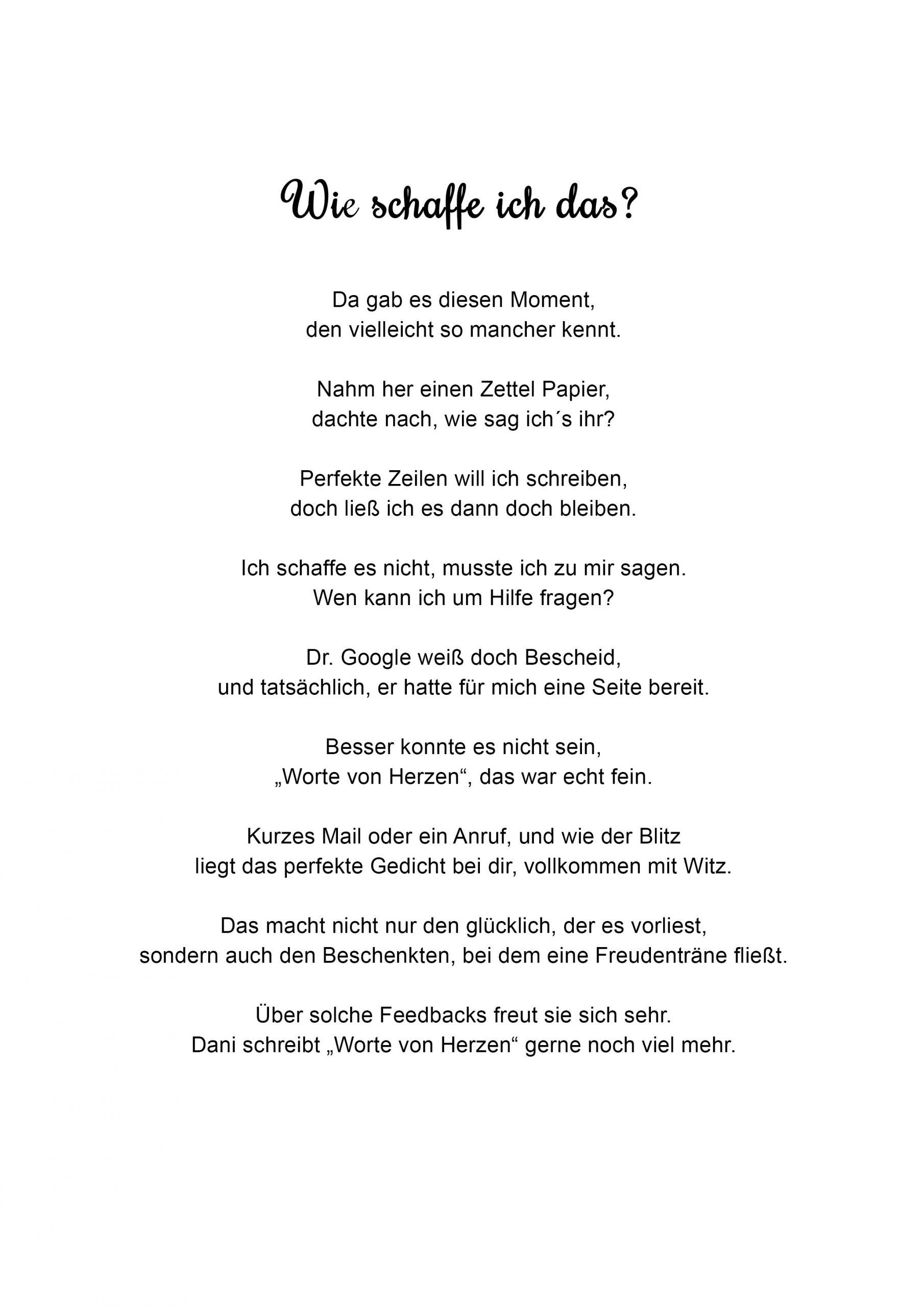 Von herzen gedichte Gedichte von